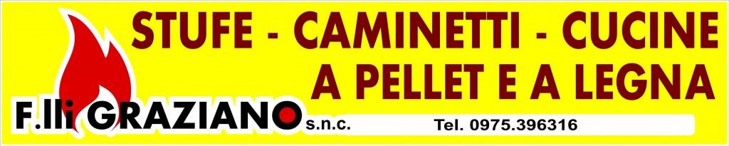 F.LLI GRAZIANO cartellone STUFE A PELLETS E A LEGNO